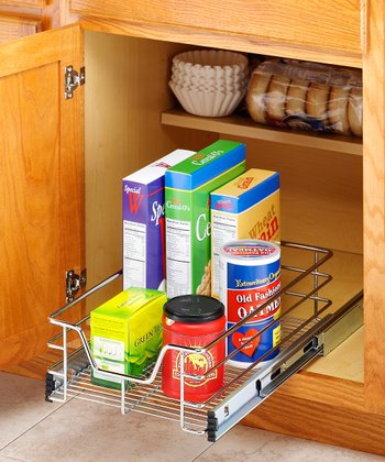 Chrome 11'' Sliding Cabinet Organizer