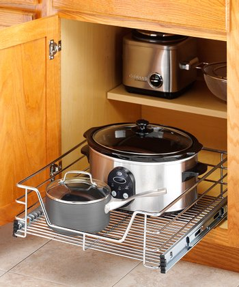 Chrome 17'' Sliding Cabinet Organizer