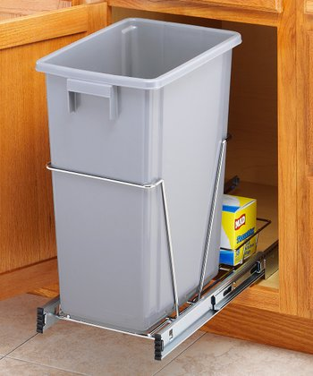 Chrome 40-Qt. Sliding Trash Bin Holder