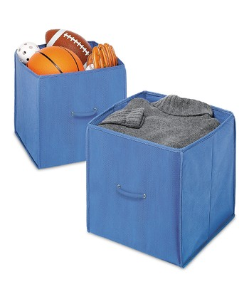 Blue Collapsible Cube - Set of Two
