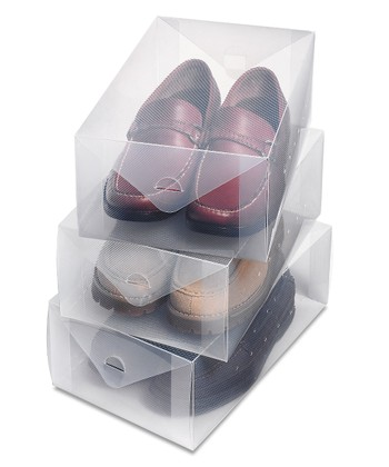 Clear Vue Men's Shoe Box - Set of Three