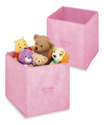 Pink Collapsible Cube - Set of Two