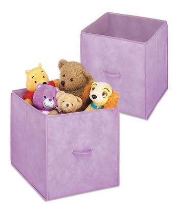 Purple Collapsible Cube - Set of Two