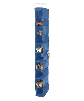 Blue 10-Shelf Hanging Shoe Organizer