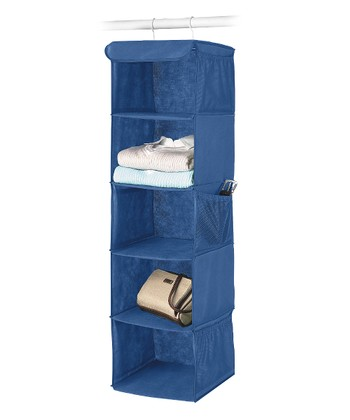 Blue Hanging Accessory Shelves