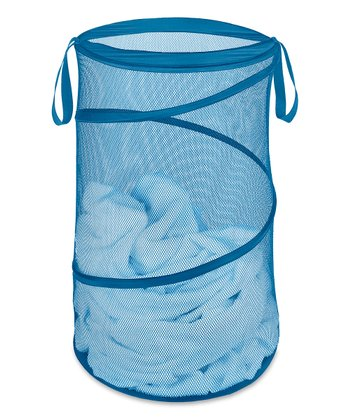 Blue Collapsible Laundry Hamper