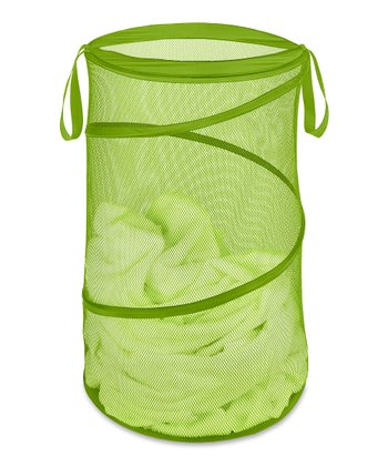 Green Collapsible Laundry Hamper