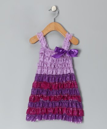 Lavender Lace Ruffle Dress - Infant & Toddler