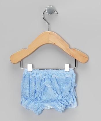 Light Blue Lace Ruffle Bloomers - Infant & Toddler