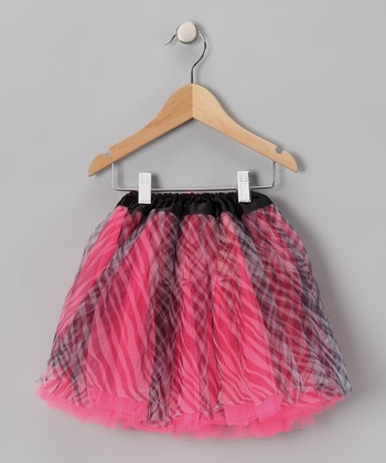 Hot Pink & Black Zebra Tutu