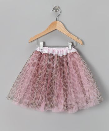Pink Leopard Reversible Tutu - Infant, Toddler & Girls