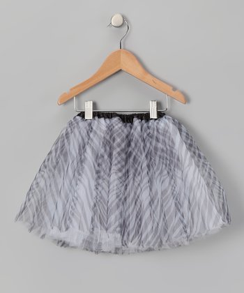 Black & White Zebra Tutu - Girls