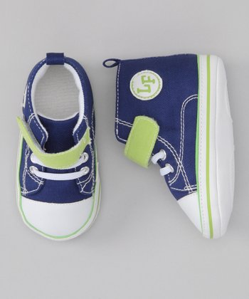 Blue & Green Hi-Top Sneaker