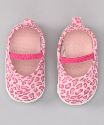 Pink Leopard Canvas Mary Jane