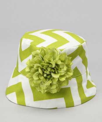 Wiggy Studio Lime & White Caneel Bay Bucket Hat