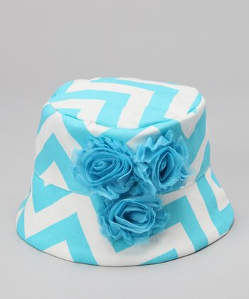 Wiggy Studio Turquoise & White Aruba Bucket Hat