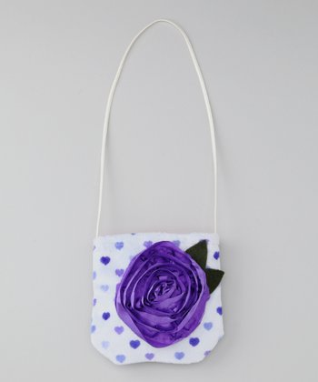 Wiggy Studio Purple Polka Dot Petit Pretty Purse