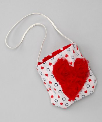 Red & Navy Little Heart Petit Purse