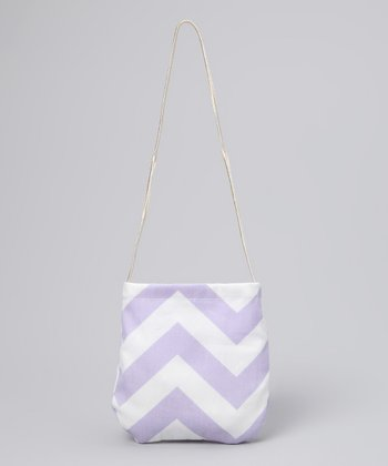 Wiggy Studio Lavender Chevron Petit Purse