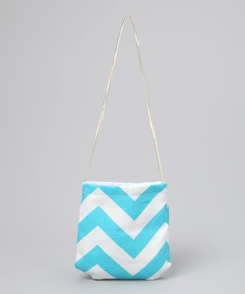 Blue Zigzag Petit Purse