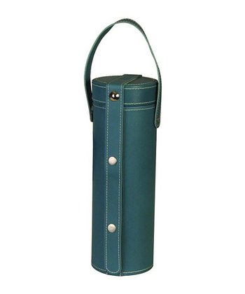 Blue Leather Wine Carrier