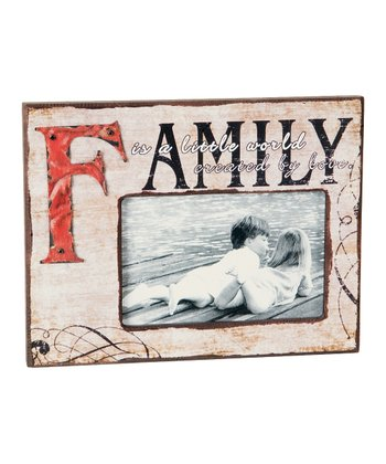 Cream & Black 'Family' Frame