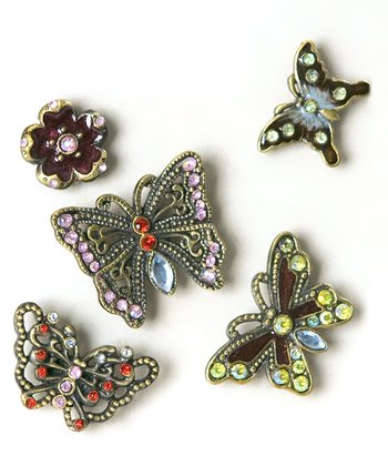 Butterfly & Flower Magnet Set