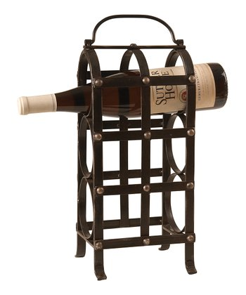 Pewter Three-Bottle Wine Rack