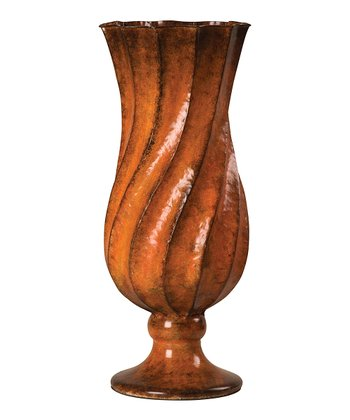Orange Swirl Vase