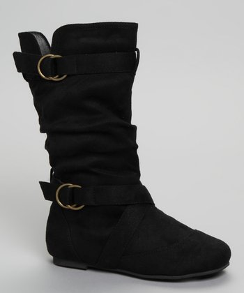 Black Buckle Kali Boot