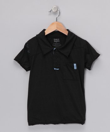 Black Jersey Polo - Toddler & Boys