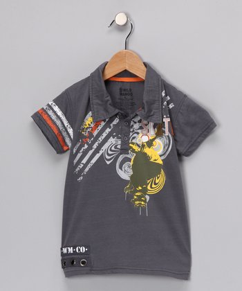 Gray Skate Polo - Toddler & Boys
