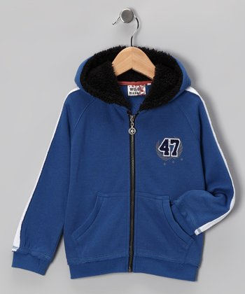 Blue '47' Zip-Up Hoodie - Toddler & Boys