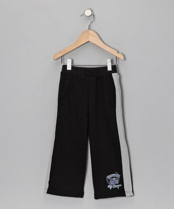 Black 'Brooklyn City League' Warm-Up Pants - Toddler