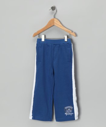 Blue 'Brooklyn City League' Warm-Up Pants - Toddler