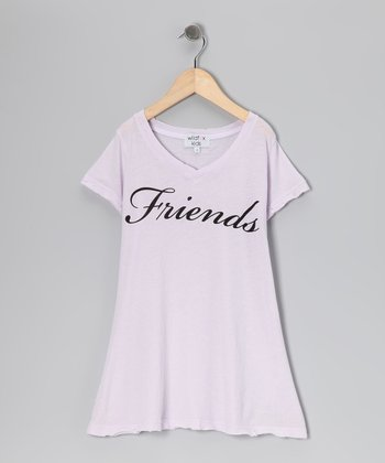 Lavender 'Friends' V-Neck Tee