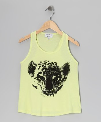 Sunshine Yellow & Black Baby Cheetah Racerback Tank