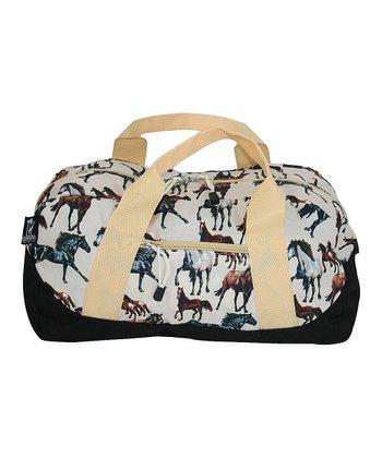 Cream Horse Dream Duffel Bag
