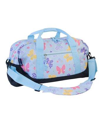 Olive Kids Light Blue Butterfly Garden Duffel Bag
