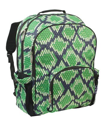 Green Snakeskin Macropak Backpack