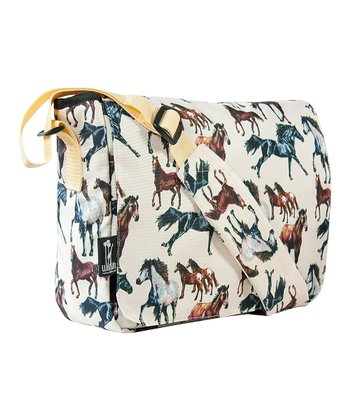 Cream Horse Dreams Kickstart Messenger Bag