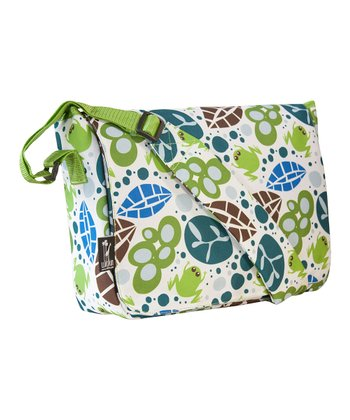 Teal Lily Frogs Kickstart Messenger Bag