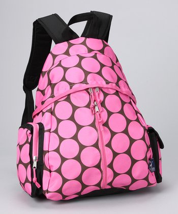 Pink Big Dot Sports Backpack