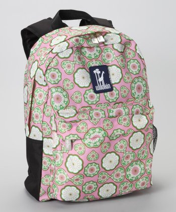 Pink & Green Majestic Tagalong Backpack