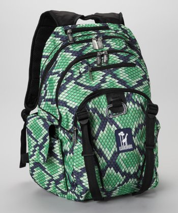 Green Snakeskin Serious Backpack