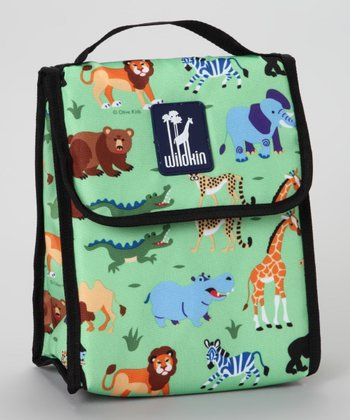 Green Olive Kids Wild Animals Munch-n-Lunch Bag