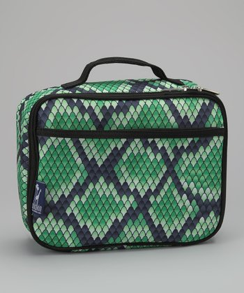 Green Snakeskin Munch 'n' Lunch Bag