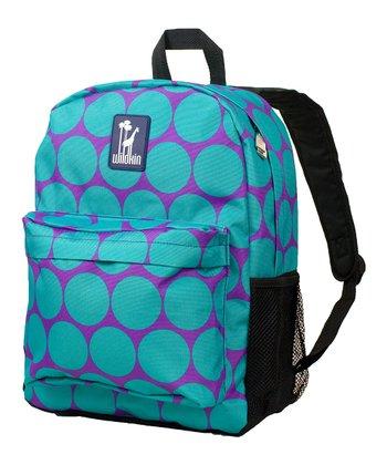 Aqua Big Dot Crackerjack Backpack