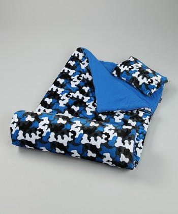 Blue Camo Sleeping Bag
