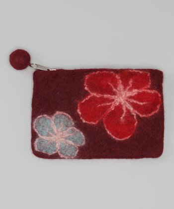 Windhorse Maroon Felt Purse